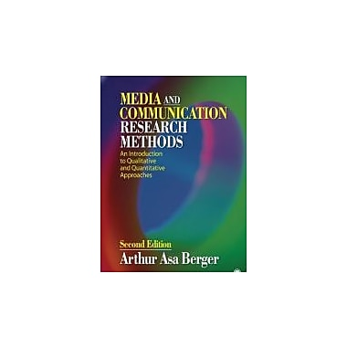 Media and Communication Research Methods: An Introduction to Qualitative and Quantitative Approaches, New Book (9781412987776)