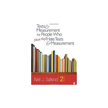Tests & Measurement for People Who (Think They) Hate Tests & Measurement, New Book (9781412989756)