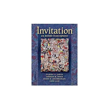 Invitation au monde francophone (with Audio CD), New Book (9781413001334)