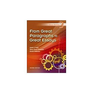 Great Writing 3: From Great Paragraphs to Great Essays, New Book (9781424062102)