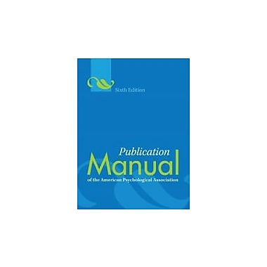 Publication Manual of the American Psychological Association, New Book (9781433805615)
