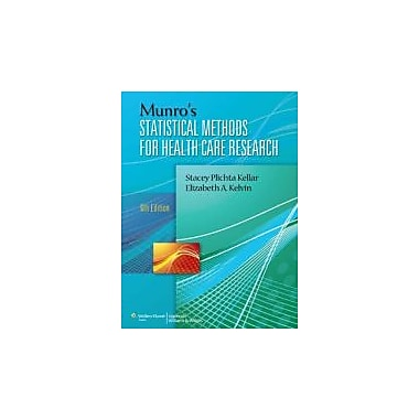 Munro's Statistical Methods for Health Care Research, Used Book (9781451187946)
