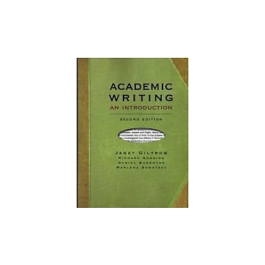 Academic Writing, second Edition: An Introduction, New Book (9781551119083)