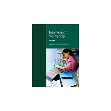 Legal Research: Step by Step, New Book (9781552393529)