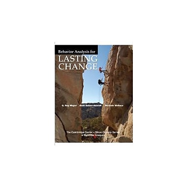 Behavior Analysis for Lasting Change, New Book (9781597380324)