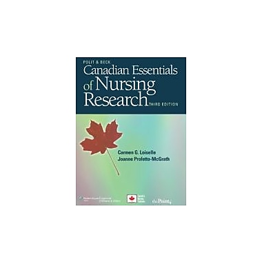 Canadian Essentials of Nursing Research, New Book, (160547729X)