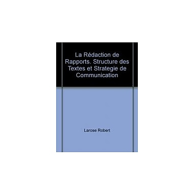 Redaction de rapports La, Used Book (9782760506800)