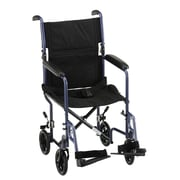 Nova Medical Products Steel Transport Chair 19, Blue