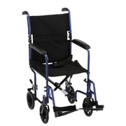 "Nova Medical Products Lightweight Transport Chair 17"", Blue"