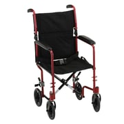 """Nova Medical Products Lightweight Transport Chair 17"""", Red"""
