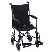 Nova Medical Products Transport Chair, 19, Black