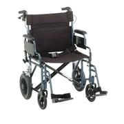 "Nova Medical Products Aluminum Transport Chair 22"" Blue"