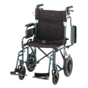 """Nova Medical Products Aluminum Transport Chair with 12 inch Rear Wheels 19"""", Red"""