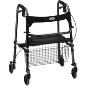 "Nova Medical Products Cruiser De-Light Folding Walker 34"" x 27.5"", Blue"