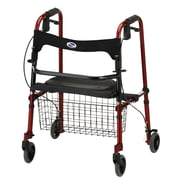 "Nova Medical Products Cruiser De-Light Folding Walker 34"" x 27.5"", Red"
