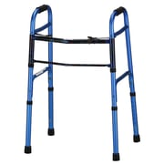 Nova Medical Products Aluminum Folding Walker 2 Button, Blue