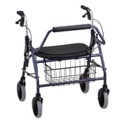 "Nova Medical Products Heavy Duty Rolling Walker 27.5"" x 25.5"", Blue"