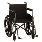 Nova Medical Products Hammertone Wheelchair Fixed Arms & Footrests 16""