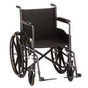 """Nova Medical Products Aluminum Wheelchair with Fixe Arms and Swing Away Footrests 20"""""""