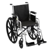 """Nova Medical Products Steel Wheelchair with Detachable Desk Arms and Footrests 37"""" x 11"""""""