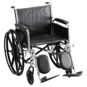 Nova Medical Products Steel Wheelchair with Detachable Full Arms and Elevating Leg Rests 20""