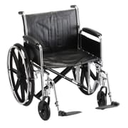 Nova Medical Products Steel Wheelchair Detachable Full Arms & Footrests 22""