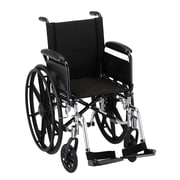 """Nova Medical Products Lightweight Wheelchair with Full Arms and Footrests 16"""""""