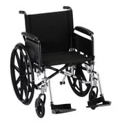 Nova Medical Products Lightweight Wheelchair with Full Arms and Footrests 20""