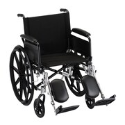 """Nova Medical Products Lightweight Wheelchair with Full Arms and Elevating Legrests 20"""""""