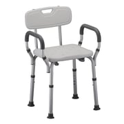 Nova Medical Products Quick Release Aluminum Deluxe Shower Chair, with Back