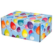 08.8(L)X 5.5(W)X12.2(H) GPP Gift Shipping Box, Classic Line, Colorful Balloons, 48/Pack