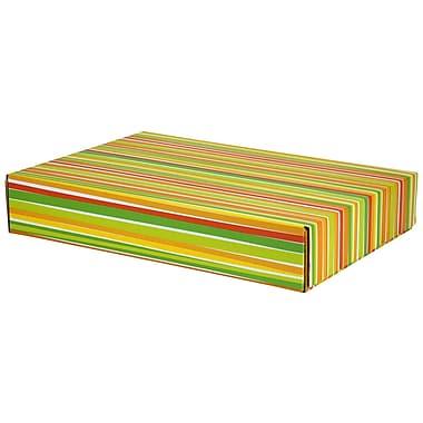 GPP Gift Shipping Box, Classic Line, Bright Stripes