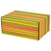06.2(L)X 3.7(W)X9.5(H) GPP Gift Shipping Box, Classic Line, Bright Stripes, 24/Pack