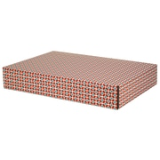 12.2(L)x 3(W)x17.8(H) GPP Gift Shipping Box, Classic Line, Tile Pattern, 12/Pack