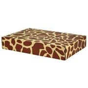 "12.2""(L)x 3""(W)x17.8""(H) GPP Gift Shipping Box, Classic Line, Giraffe Print, 24/Pack"