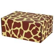 "06.2""(L)X 3.7""(W)X9.5""(H) GPP Gift Shipping Box, Classic Line, Giraffe Print, 12/Pack"