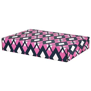 GPP Gift Shipping Box, Classic Line, Pink/Navy Argyle
