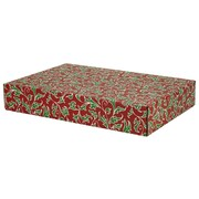 "12.2""(L)x 3""(W)x17.8""(H) GPP Gift Shipping Box, Holiday Line, Christmas Holly, 24/Pack"