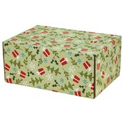 "06.2""(L)X 3.7""(W)X9.5""(H) GPP Gift Shipping Box, Holiday Line, Gifts and Trees, 6/Pack"