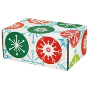 "06.2""(L)X 3.7""(W)X9.5""(H) GPP Gift Shipping Box, Holiday Line, Jumbo Snowflakes, 12/Pack"
