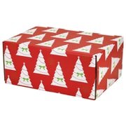 06.2(L)X 3.7(W)X9.5(H) GPP Gift Shipping Box, Holiday Line, Christmas Trees, 24/Pack