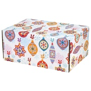 "08.8""(L)X 5.5""(W)X12.2""(H) GPP Gift Shipping Box, Holiday Line, Festive Ornaments, 48/Pack"