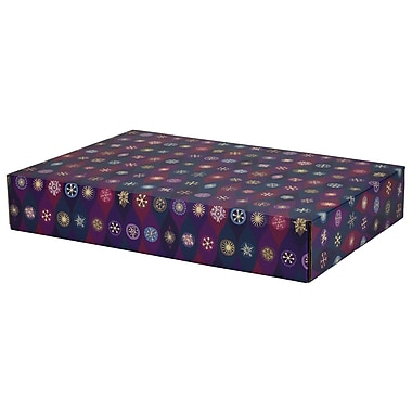 GPP Gift Shipping Box, Holiday Line, Purple Pointed Ovals