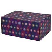 "06.2""(L)X 3.7""(W)X9.5""(H) GPP Gift Shipping Box, Holiday Line, Purple Pointed Ovals, 12/Pack"