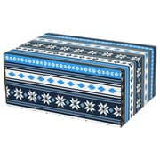 "06.2""(L)X 3.7""(W)X9.5""(H) GPP Gift Shipping Box, Lisa Line, Nordic Blue, 24/Pack"
