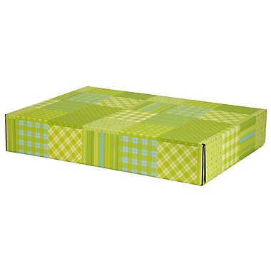 GPP Gift Shipping Box, Lisa Line, Patchwork Green