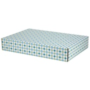GPP Gift Shipping Box, Lisa Line, Teal Grid