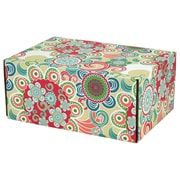 08.8(L)X 5.5(W)X12.2(H) GPP Gift Shipping Box, Lisa Line, Floral Fun, 48/Pack