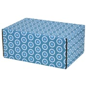 06.2(L)X 3.7(W)X9.5(H) GPP Gift Shipping Box, Lisa Line, Teal Circles, 24/Pack