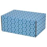 08.8(L)X 5.5(W)X12.2(H) GPP Gift Shipping Box, Lisa Line, Teal Circles, 24/Pack